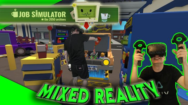 VoodooDE's erstes Mixed Reality Video! Job Simulator MR [Let's Play][Gameplay][Vive][Mixed Reality] by VoodooDE