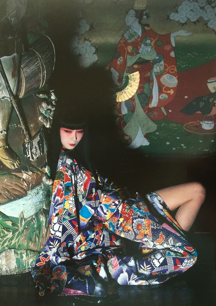 Sayoko Yamaguchi 山口小夜子 designed by Kansai Yamamoto photographed by Noriaki Yokosuka 1981-82