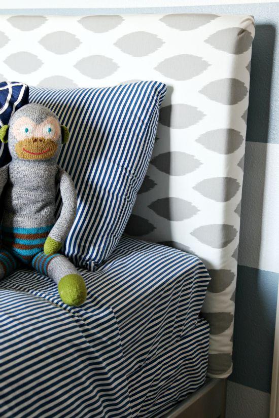 IHeart Organizing: Boy's Bedroom Upholstered Headboards: 79Boy Bedrooms, Boys Bedrooms, Boys Rooms, Diy Headboards, Upholstered Headboards, Diy Bedrooms, Bedrooms Upholstered, Fabrics Headboards, Upholstered Beds