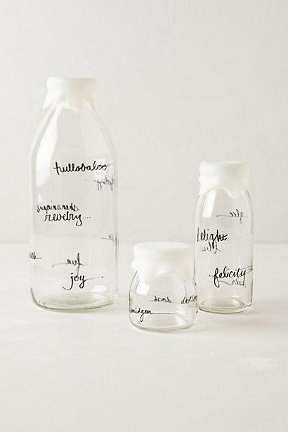 glass dairy bottles #AnthroFave