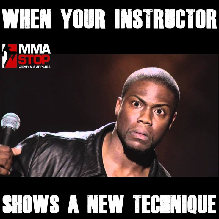 When your instructor shows a new technique!