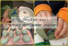 Dino Eier zum Ausgraben aus Salzteig selber machen – die perfekte Spielte für den Dinosaurier Kindergeburtstag und die Dinoparty. Hier geht es zu Rezept und Anleitung: http://www.familienkost.de/artikel_dinoei_zum_ausgraben_selber_machen.html