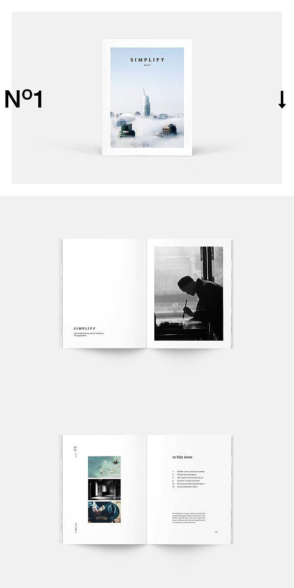 Vereinfachen Sie die Magazinvorlage #Broschüre #Vorlage #Indesign #Magazin #Lookbook