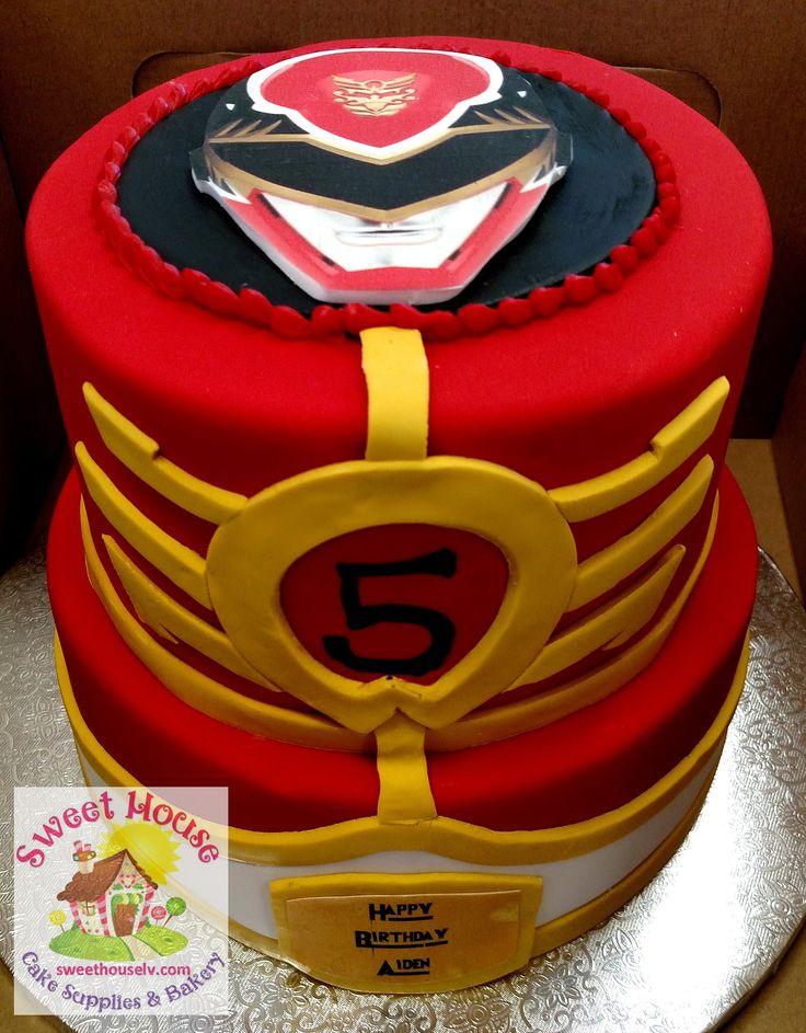 Resultado de imagen de red power ranger cakes