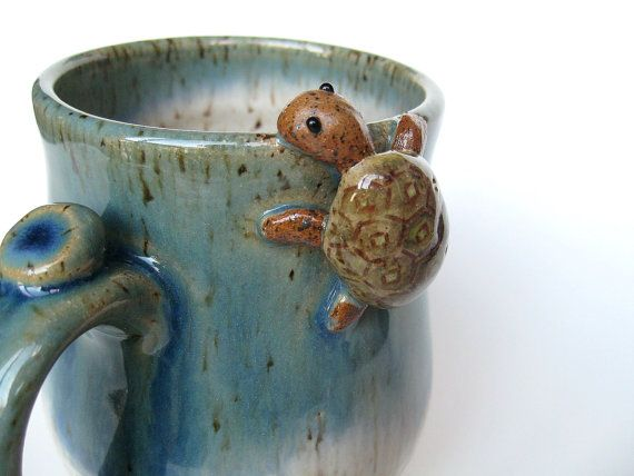 Hey, I found this really awesome Etsy listing at https://www.etsy.com/listing/207928702/bernard-the-turtle-mug-in-blue-over