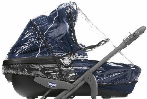 Chicco Trio - Cubierta impermeable de PVC para carrito de bebé, transparente