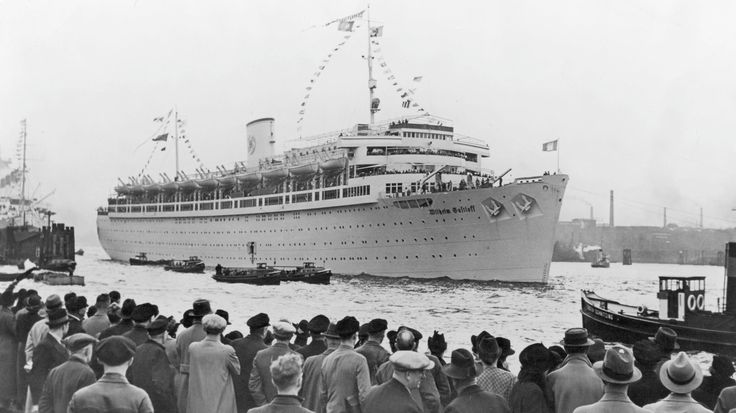 The Wilhelm Gustloff sank after being hit by Russian torpedoes on Jan. 30, 1945. More than 9,000 people died.