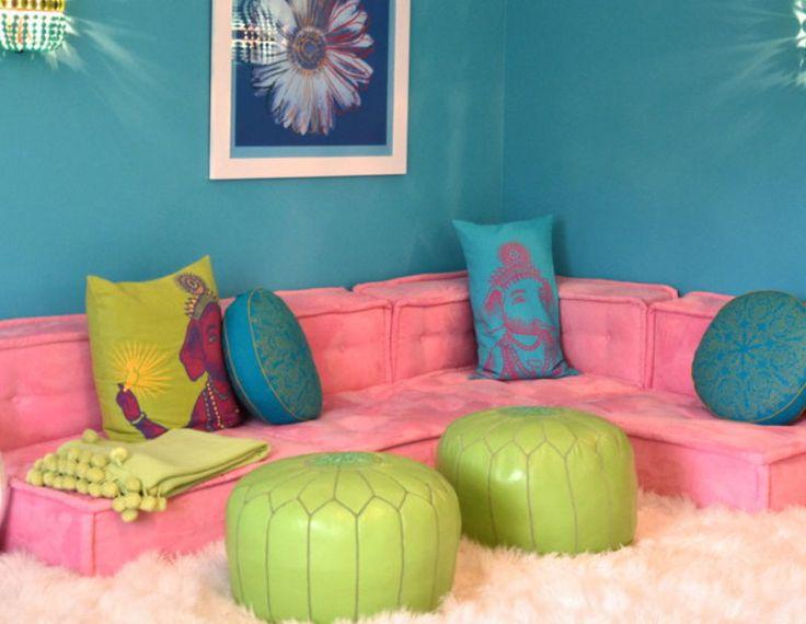 Floor Cushions Teen Games Room