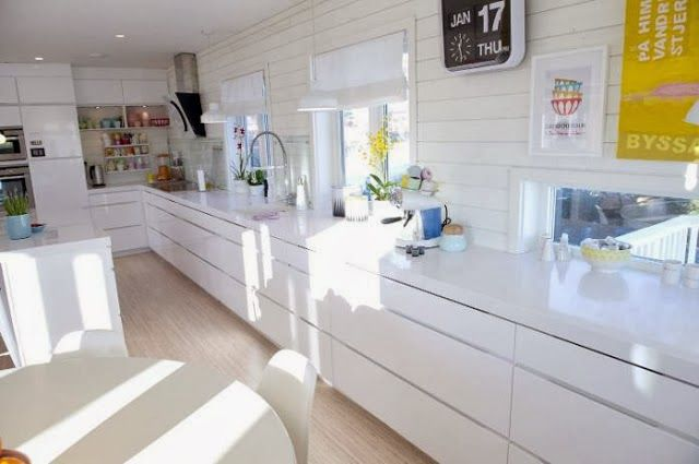 white kitchen with colourful accents