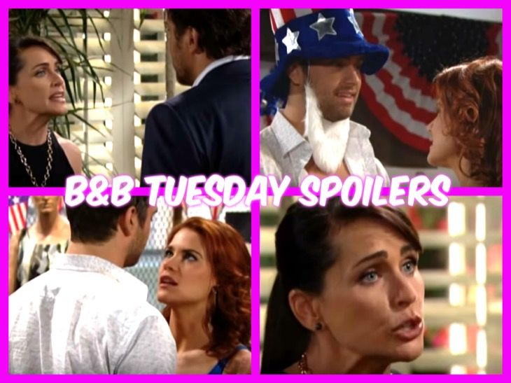 """""""The Bold and the Beautiful"""" spoilers for Tuesday, July 4, tease that Ridge (Thorsten Kaye) will try to get through to Quinn (Rena Sofer). Thanks to Sheila (Kimberlin Brown), Quinn is questioning her decision to keep secrets from Eric (John McCook). She now believes coming clean is their best bet if"""