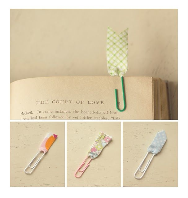 Paper clip fabric bookmark by through the lens