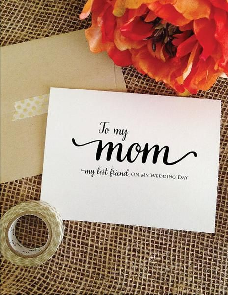 Mother of the Bride Cards - To my mom my best friend, on my wedding day card