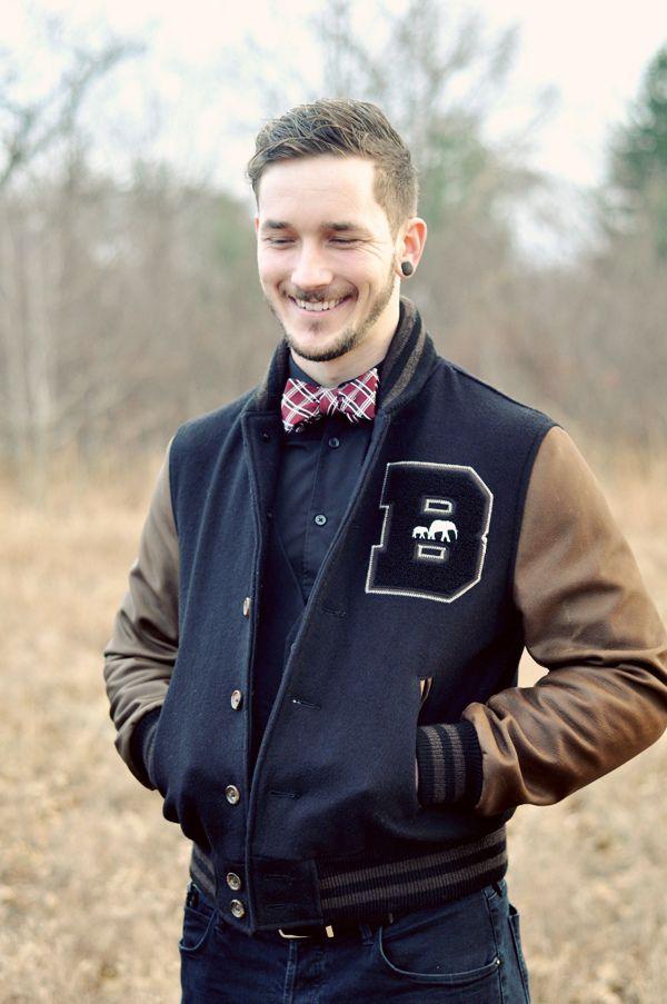 varsity jacket: Old Schools, Bobby Hicks, Varsity Jackets, Bows Ties, Bow Ties, Design Handbags, Men Style, Hudson Jeans, Letterman Jackets