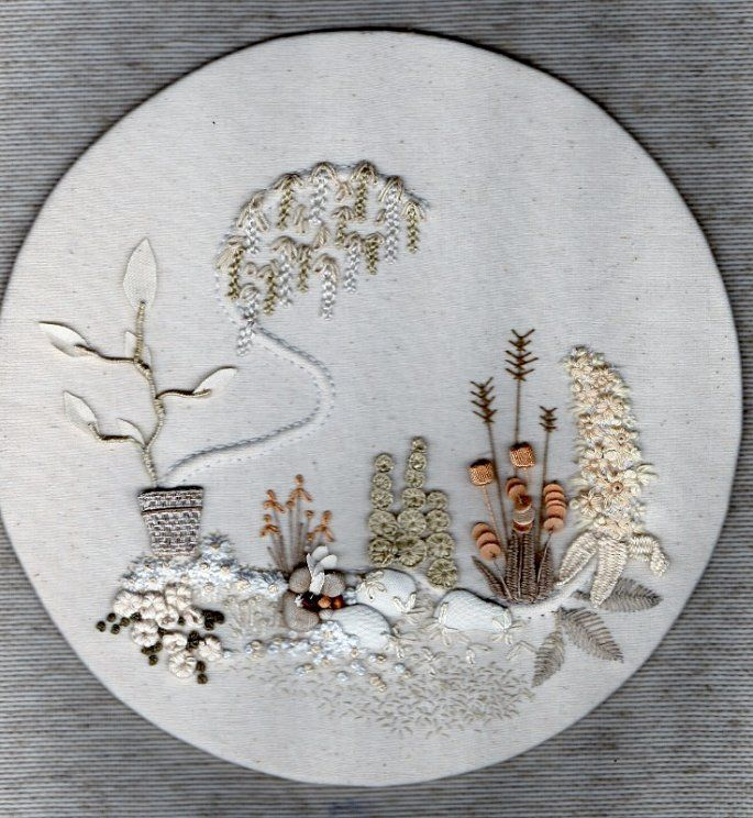Image result for calico garden embroidery