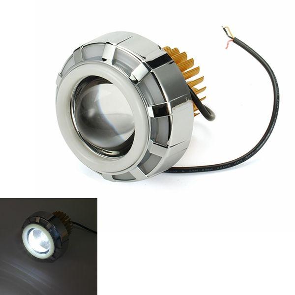 12V 15W 2200LM 6500K Motorcycle Spot Lightt LED headlight Bifocal High/Low Strobe Headlights
