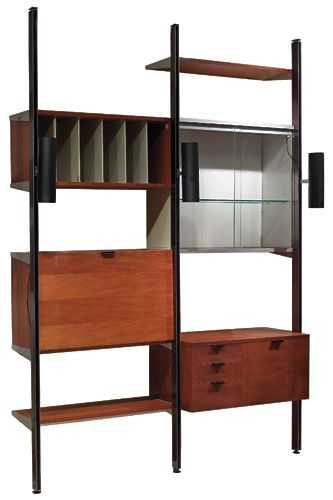 mid mod 1950s George Nelson wall unit by Herman Miller