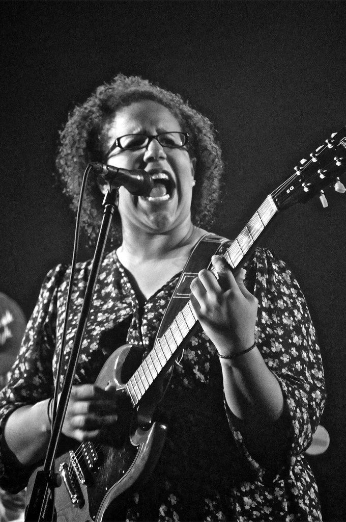 Brittany Howard of Alabama Shakes. She does not look like she would have the voice she does.