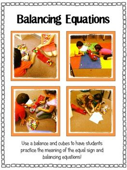 Balancing Equations: Missing Addend, Addition, & SubtractionA Math, Balanced Equations In Math, Classroom Math, Schools Math, Practice Finding, Balance Equation, Balance Scales, Practice Balance, Equations Practice With Th