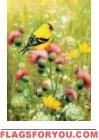Goldfinch Thistle Garden Flag