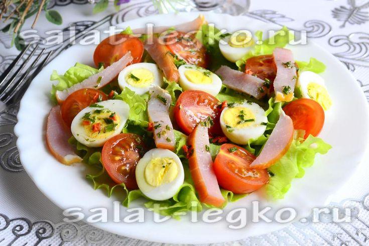 Салат с шампиньонами и крабовыми палочками