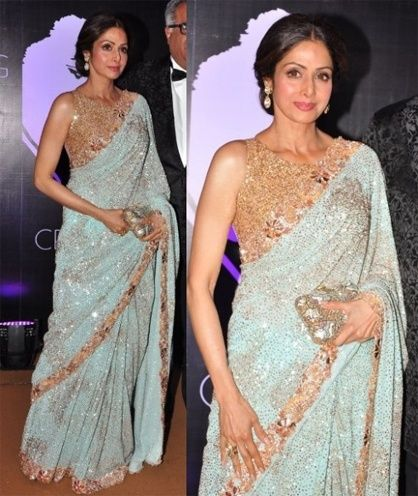Sridevi saree by Manish Malhotra.