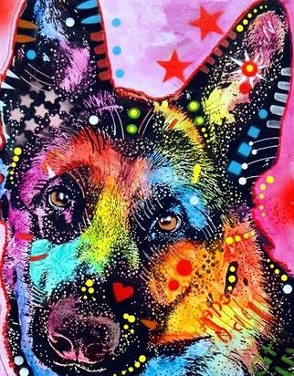 dean russo art - actually wasn't even searching for blue heeler art this time, gorgeous! Love blue babies