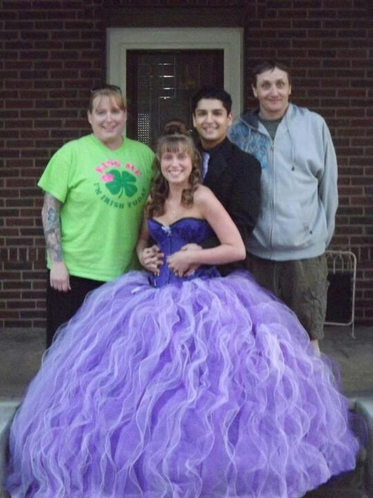 Prom dress 18 yards