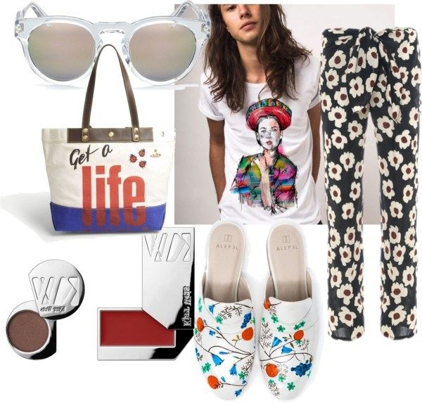 Check out this sustainable outfit featuring flowers in all shapes and sizes.