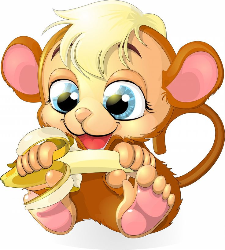 Cute Monkey - Free Animal Cartoon Download - Lots of free images on this site
