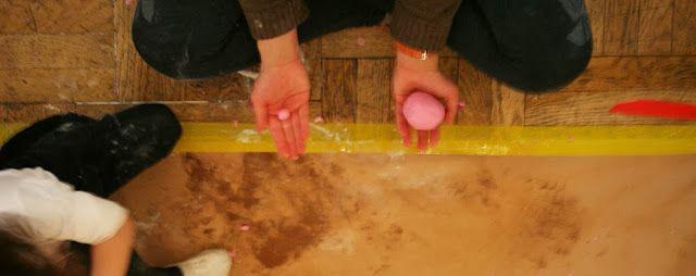 monotypie w ciastolinie - warsztaty dla dzieci 2-3