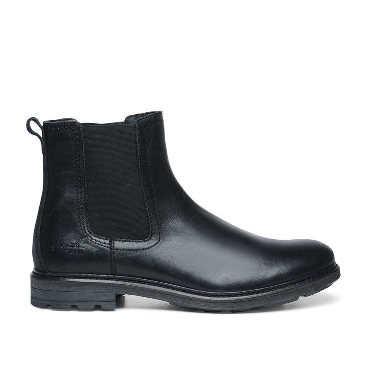 Stoere chelsea boots zwart