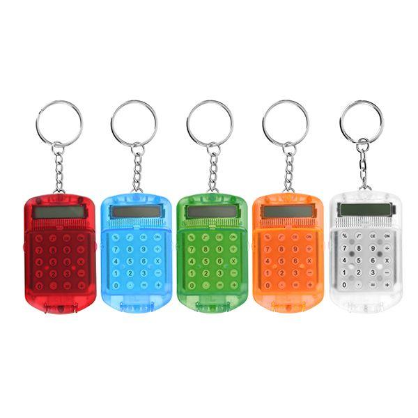 Mini calculadora electrónica carcasa de plástico de 8 dígitos con Llavero
