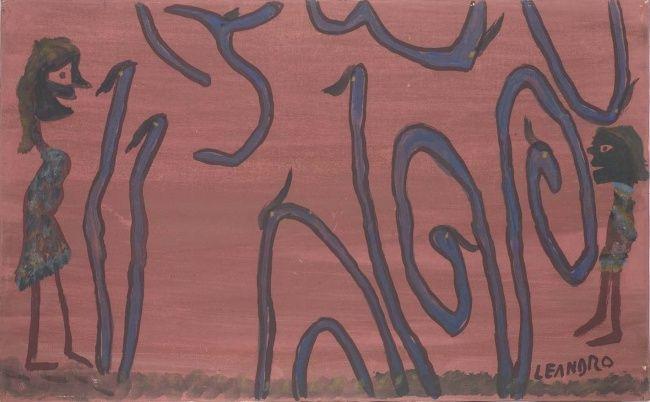 s.t. (Скульптура),  80x50 cm - Ezechiele Leandro (1905-1981) acrilico su tela