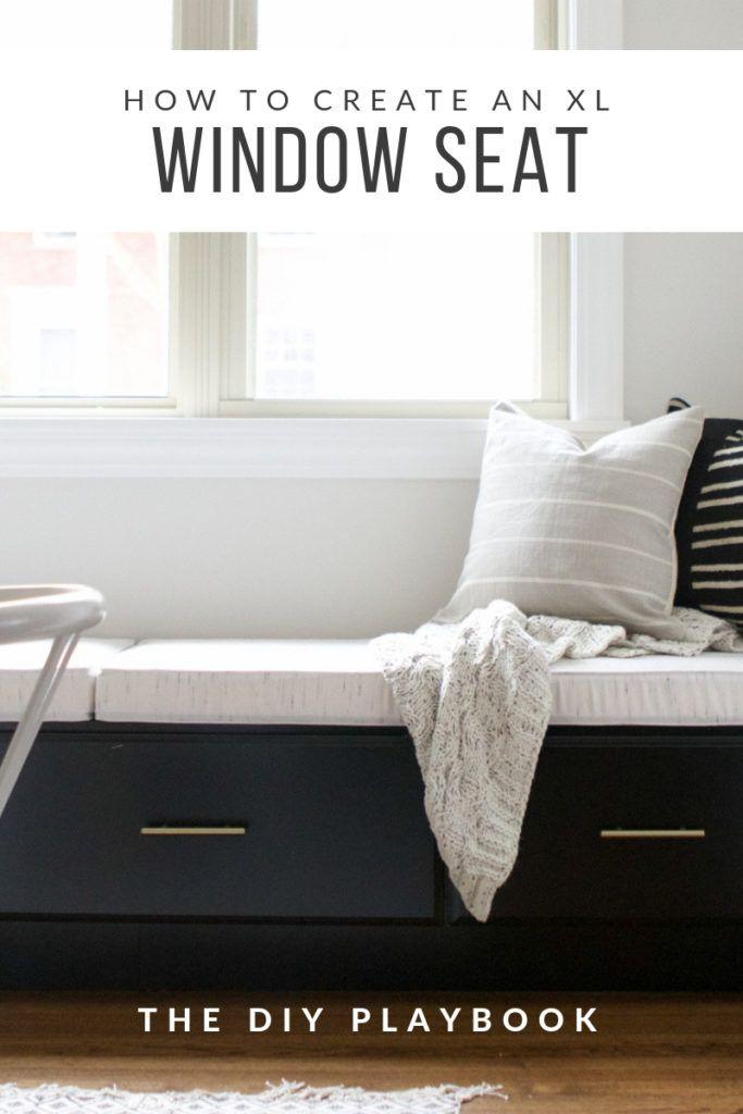 Creating An Extra Long Window Seat Custom Window Seat Cushion Storage Bench Bedroom Window Seat Storage