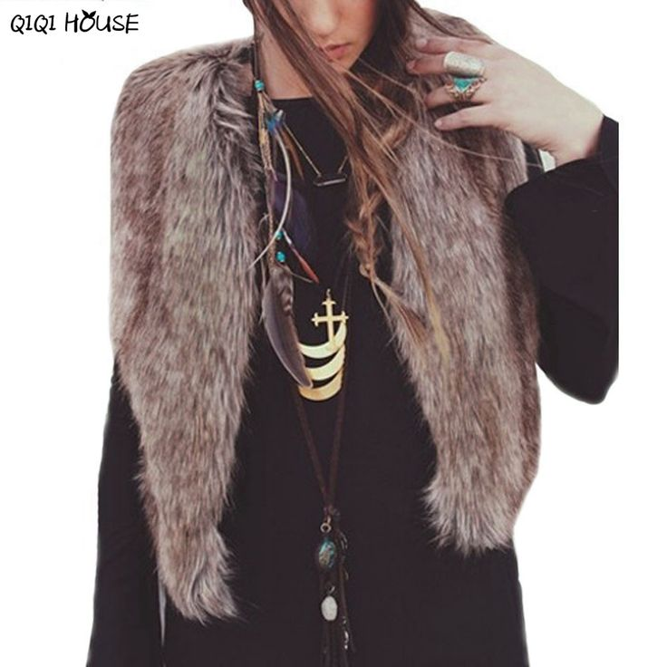 Colete Women Vest Sleeveless Coat Outerwear Hair Jacket Waistcoat Casaco De Pelo capa sin mangas del largo chaleco chaqueta