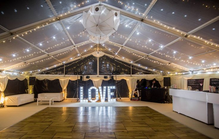 Clear roof wedding marquee