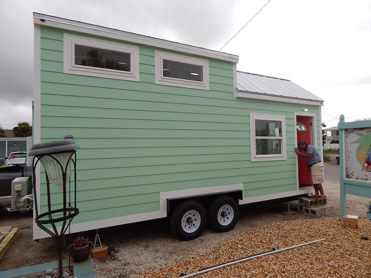 SignaTour Campers of Tampa, Florida, has been making well-regarded teardrop micro-campers since 2011. This year they built their first tiny house on wheels, a comparatively enormous 255-square-foot pastel blue beach cottage on a 24-foot trailer. You won't be towing this one behind a motorcycle (as you can with SignaTour's 7-foot, 600-pound Daytona model), but if you've got a larger vehicle and $42,500 to spend ...