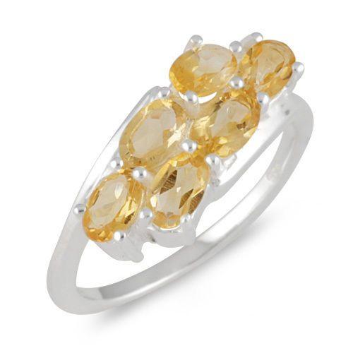 Solid 925 Sterling Silver Jewelry Genuine Citrine Gemstone Ring SZ 7 #Rinnga
