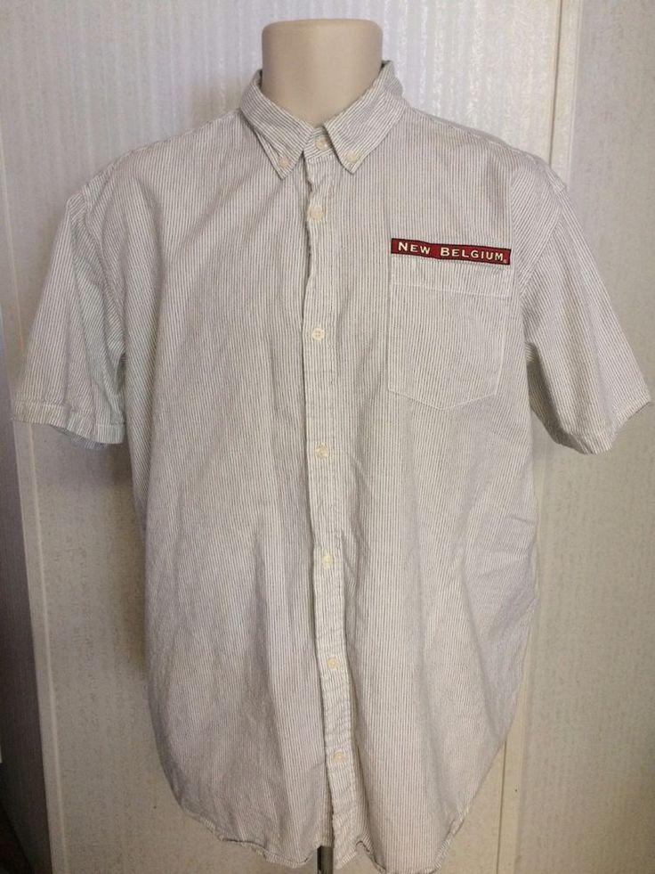Patagonia Shirt Mens XXL New Belgium Brewing Organic Cotton White Black Striped #Patagonia #ButtonFront