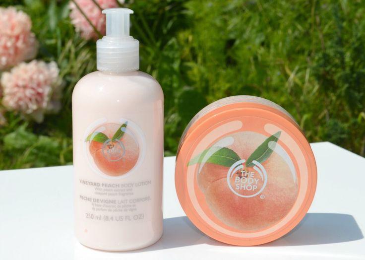 The Body Shop Vineyard Peach Body Lotion and Body Scrub