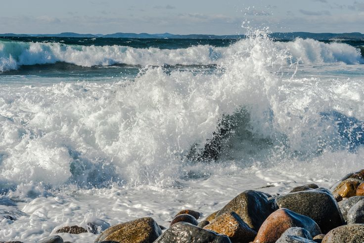Splash! - Splash! Rough sea and a bit of wind made a spectacular show!
