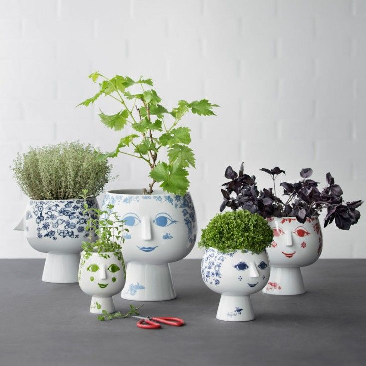 Bjorn Wiinblad Juliane Flowerpot -Green