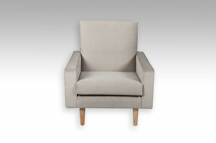 Frankie Armchair. Australian designed and manufactured. It can be custom made with your choice of fabric or leather.