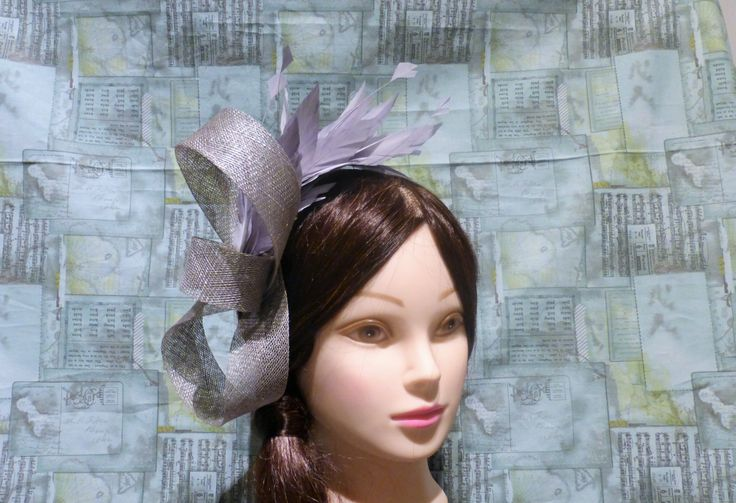 Grey Fascinator Hat Sinaymay Twist Feather Prom Bridal Bridesmaid Mother Of Bride Cocktail Millinery Hairpiece READY TO SHIP by UnderHerVeil on Etsy