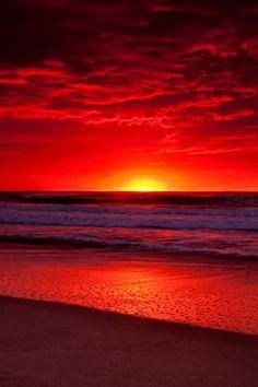 Vibrant red sunset   nature     sunrise     sunset   #nature https://biopop.com/