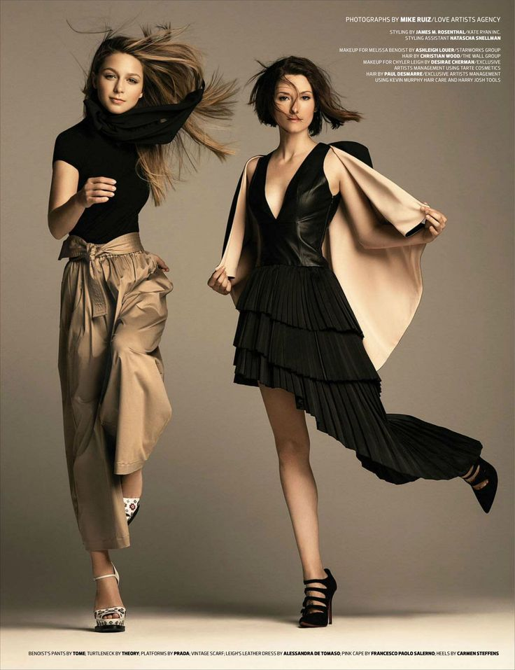 Melissa Benoist & Chyler Leigh photographed by Mike Ruiz for Emmy Magazine, Issue 03.