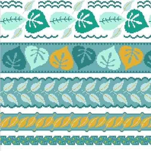 #1 planche de frises au point de croix http://les7joursdhelene.canalblog.com/archives/2015/03/26/31776637.html