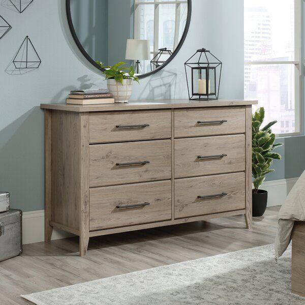 Freda 6 Drawer Double Dresser Bedroom Furniture Stores Double Dresser Storage Furniture Bedroom