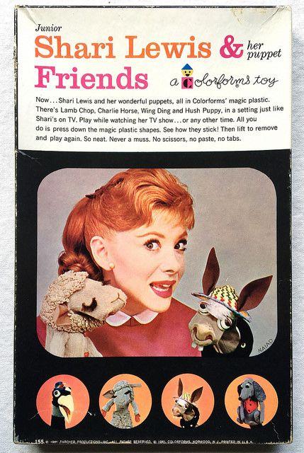 Shari Lewis & Friends - 1961 Colorforms Toy | www.artskoolda… | Flickr