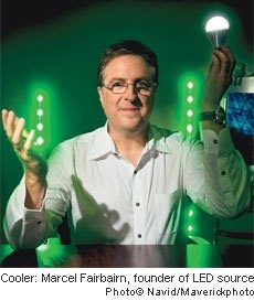 A Bright Future for an LED Franchise - Marcel Fairbairn saw huge potential in the newest LED lights–so he quit lighting concert stages and created LED Source.......